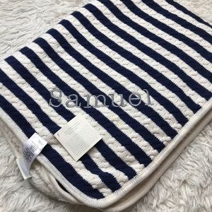 "NWT pottery barn stripes baby blanket ""Samuel"""